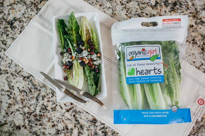 sweet blackberry grilled romaine hearts