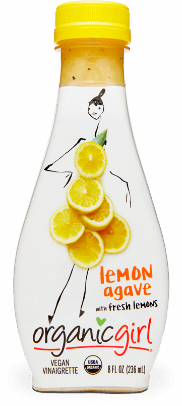 organic girl lemon agave fresh designer dressing
