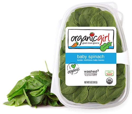 baby spinach greens