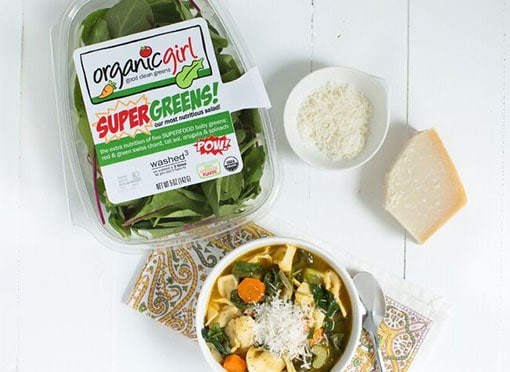 SUPERGREENS tortellini soup recipe