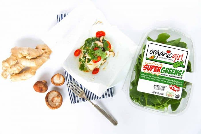 baked cod recipe with SUPERGREENS