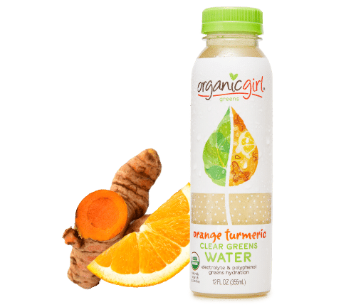 organicgirl orange turmeric clear greens water