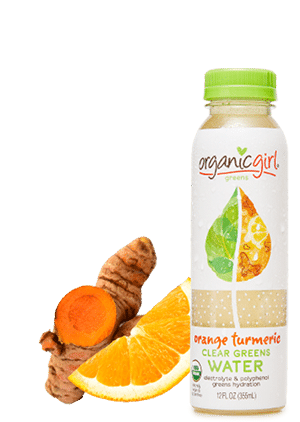 orange turmeric clear greens water