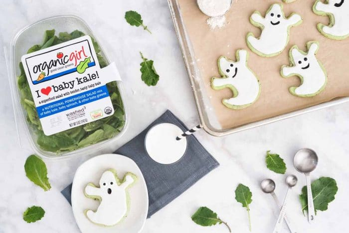 green ghost sugar cookies