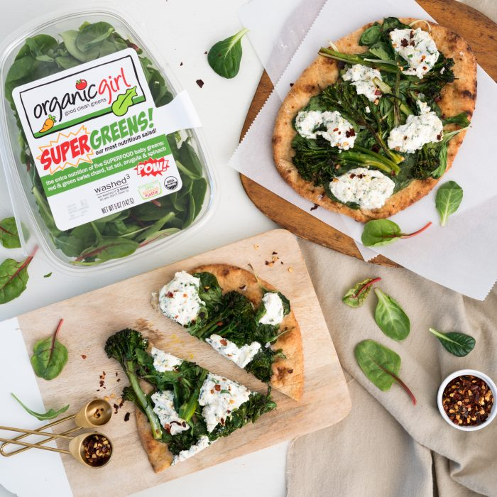 broccoli rabe & ricotta flatbread recipe